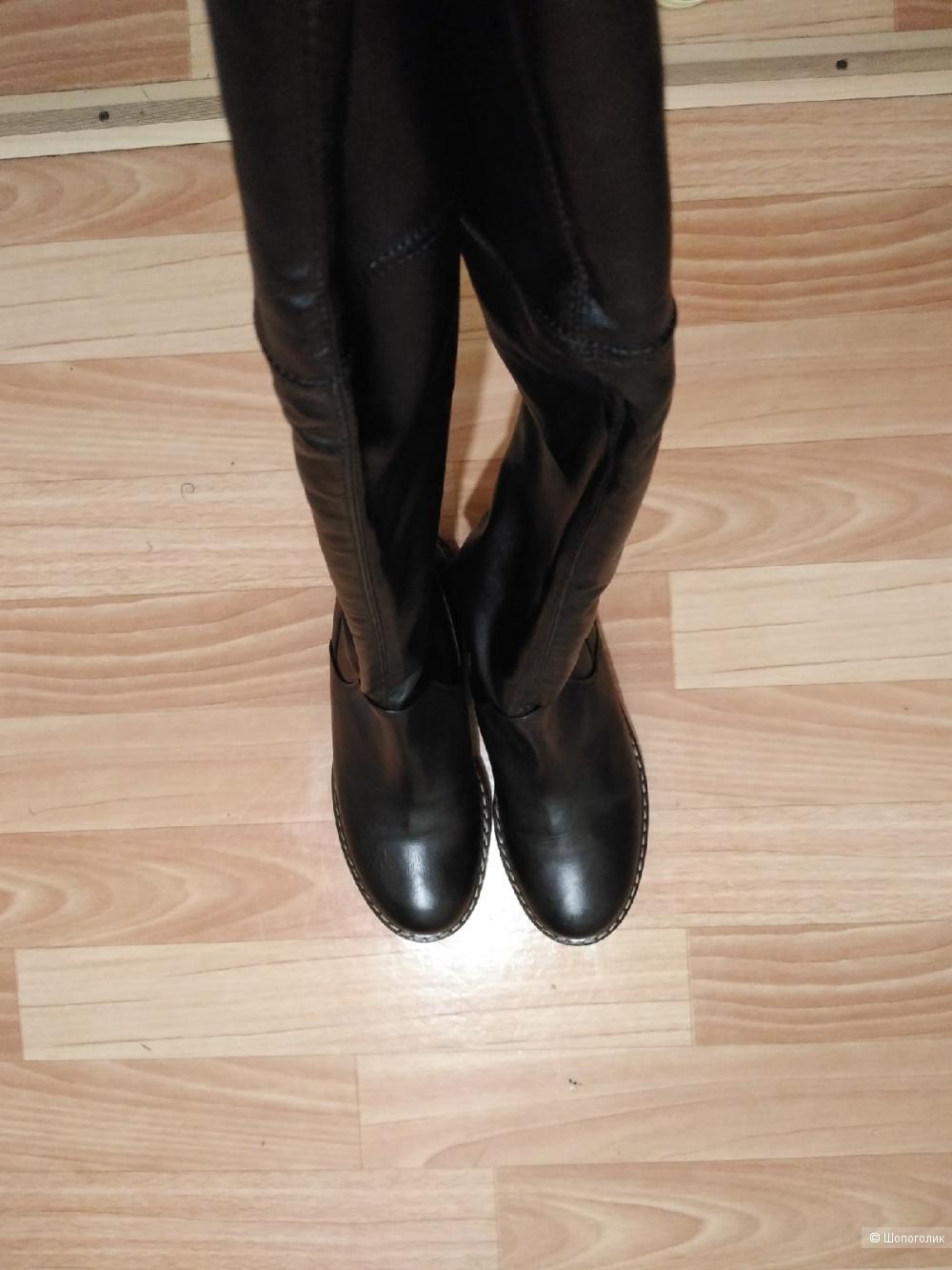 Сапоги ботфорты из натуральной кожи Griff Italia. Размер: 36 (23,5 см)