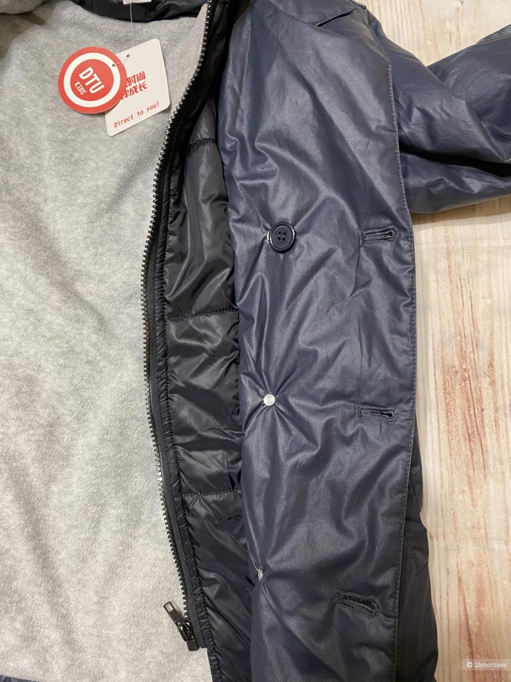 Утепленная куртка на мальчика 2 в 1. Размер 140