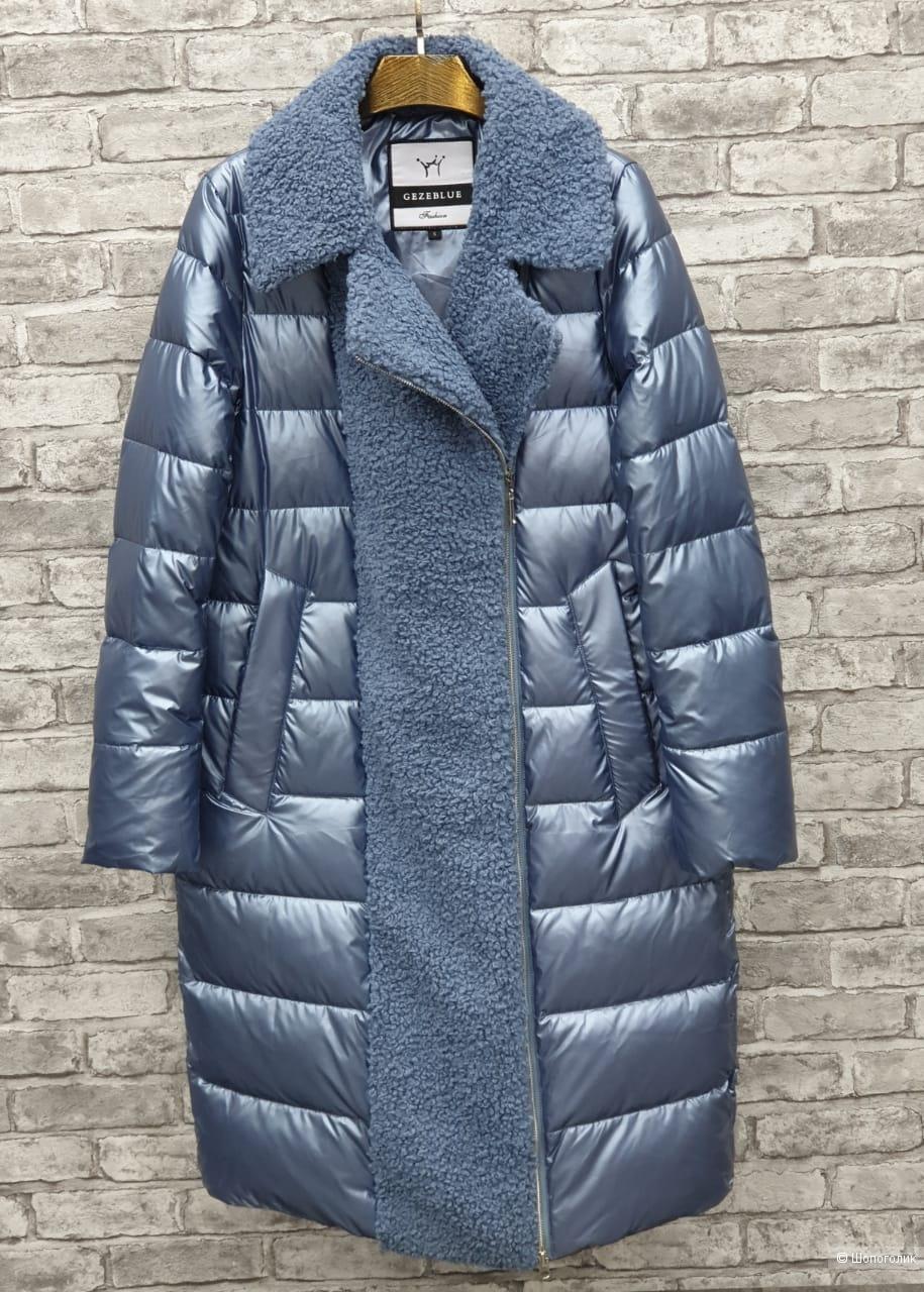 Пальто пуховик зима комбинированное TEDDY GEZEBLUE, 42-50
