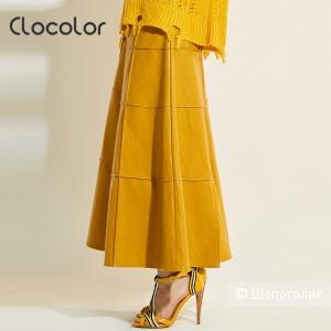 Кожаная юбка от Clocolor, р. 46-48
