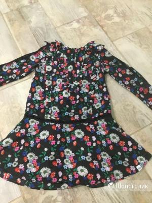 Платье-туника для девочки Nik&Nik by Nikkie, размер 6/116