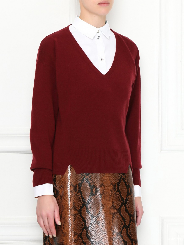 Шерстяной пуловер Jil Sander, размер М