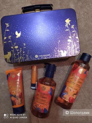 Подарочный набор новогодней коллекции Ив Роше «Пряное яблоко» в чемоданчике для косметики