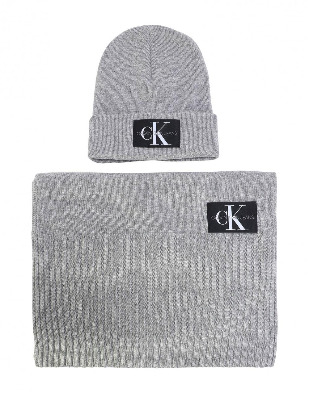 Комплект CALVIN KLEIN JEANS шапка бини + шарф