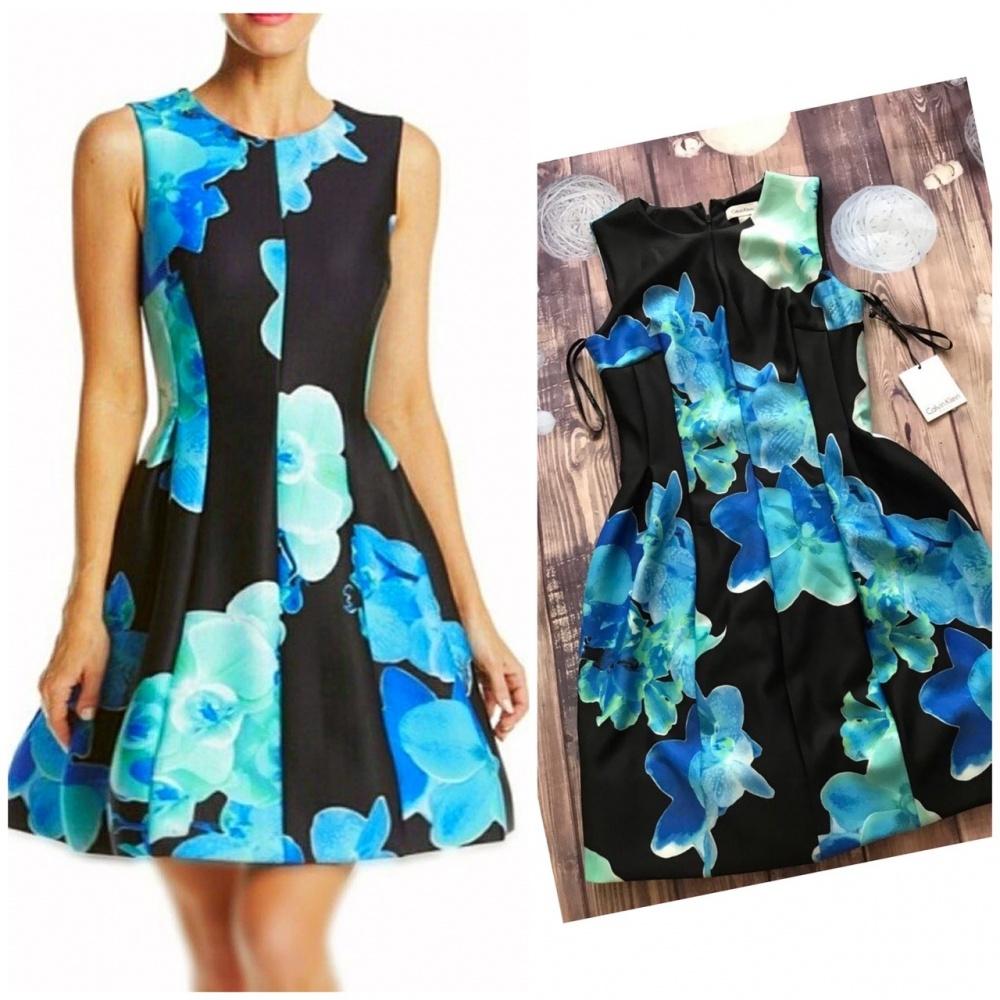 Пышное платье  от Calvin Klein М