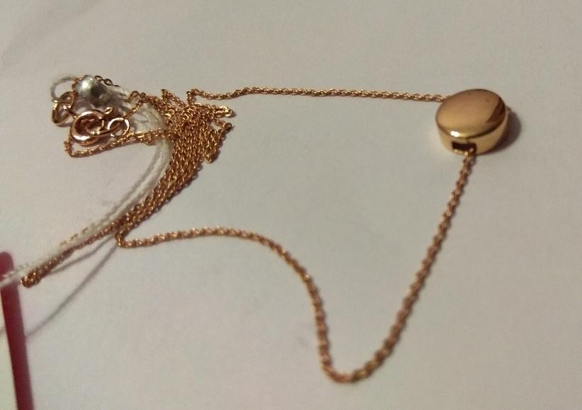 Золотое колье Линии любви размер 40