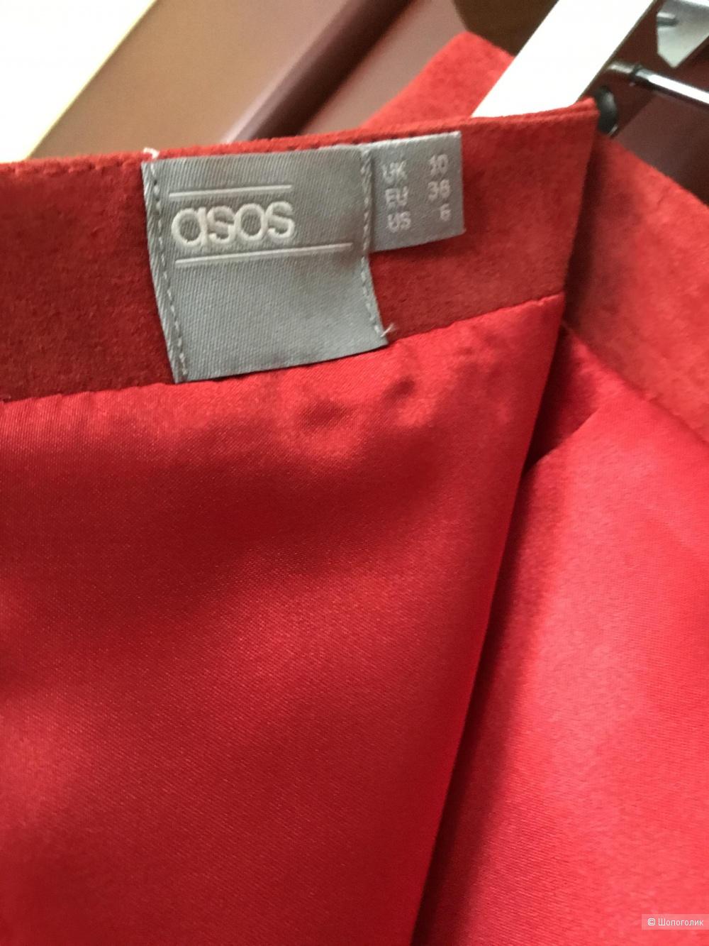 Замшевая юбка  Asos , размер 44