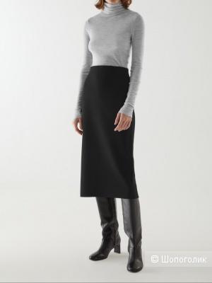 Шерстяная юбка-карандаш austin reed, размер 46/48