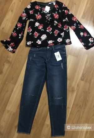Сет блузка HM размер 34 и джинсы Остин размер 26