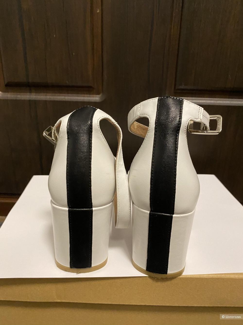 Туфли белые Portal 37 кожа
