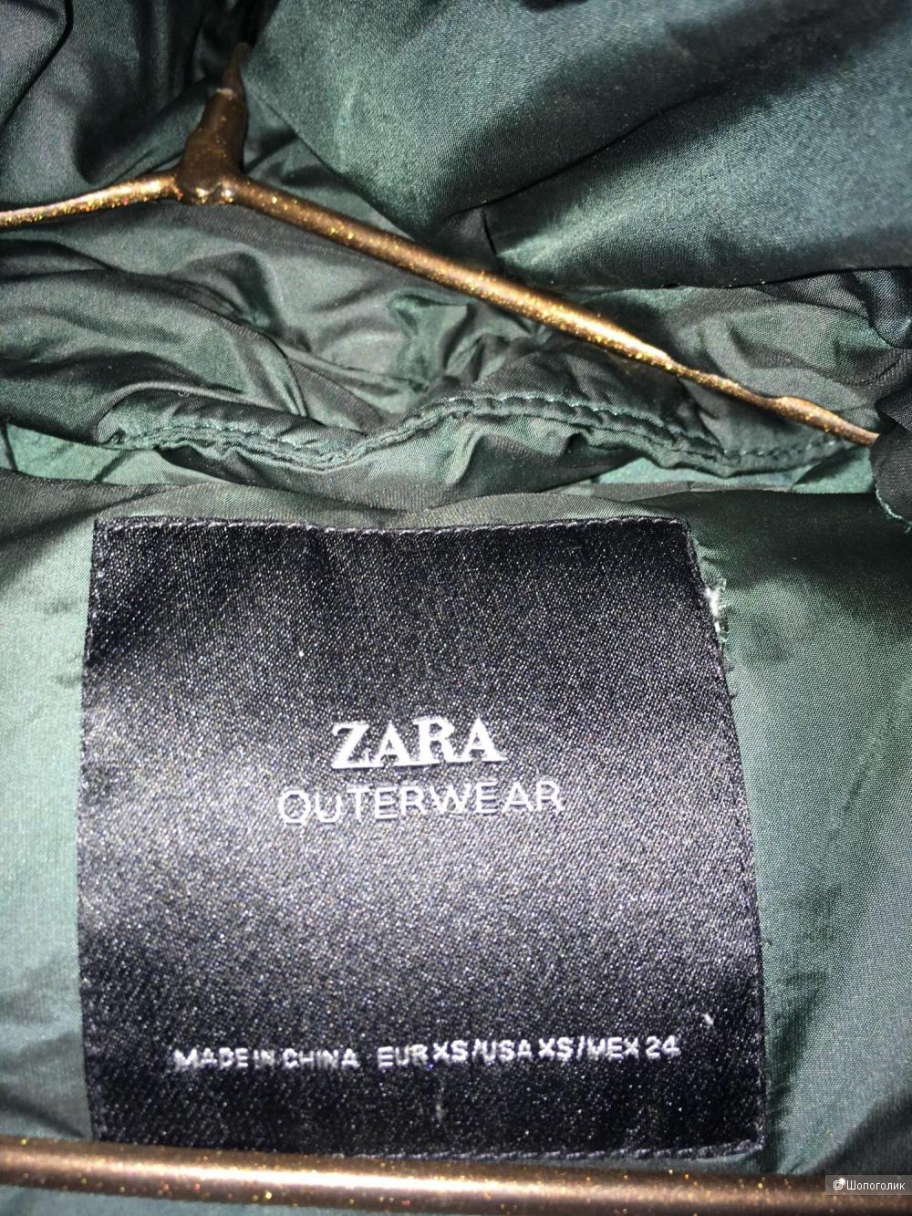 Пуховик Zara размер xs