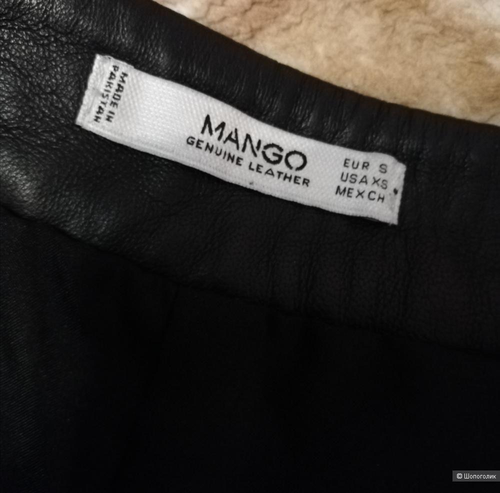 Кожаные шорты mango S