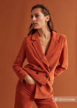 Пиджак прямого кроя манго, размеры М и L