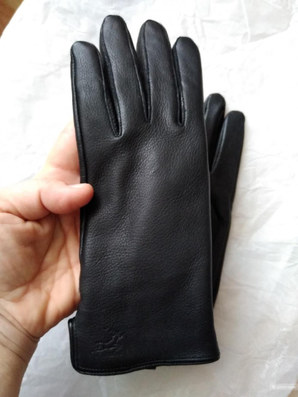 Перчатки из оленьей кожи HARMON MODA. Размер 6 1/2.