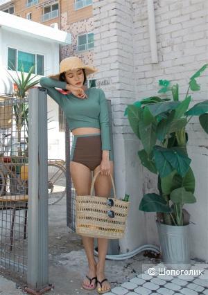 Женский купальник Sea Swimwear Store: рашгард с длинным рукавом + шортики. M (на наш XS-S)