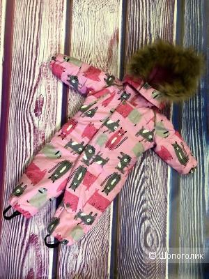 Комбенизон для девочки , зима . Flamingo. р.80