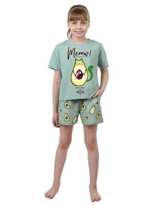Комплект для девочки Авокадо, размер 34 (140 рост)