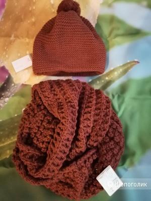 Комплект  Siberika, шапка Ники 54-57 р-р, снуд  Брук 63*25.