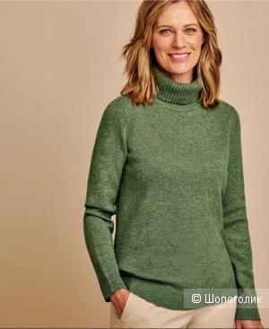 Шерстяной свитер-водолазка woolovers, размер l