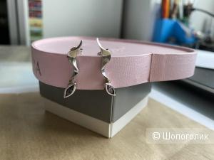 Серебрянные серьги гвоздики с аметистом