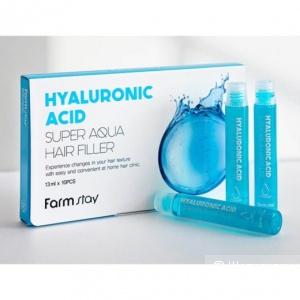 Суперувлажняющий филлер с гиалуроновой кислотой для волос FARMSTAY Hyaluronic Acid Super Aqua Hair Filler 10pcs