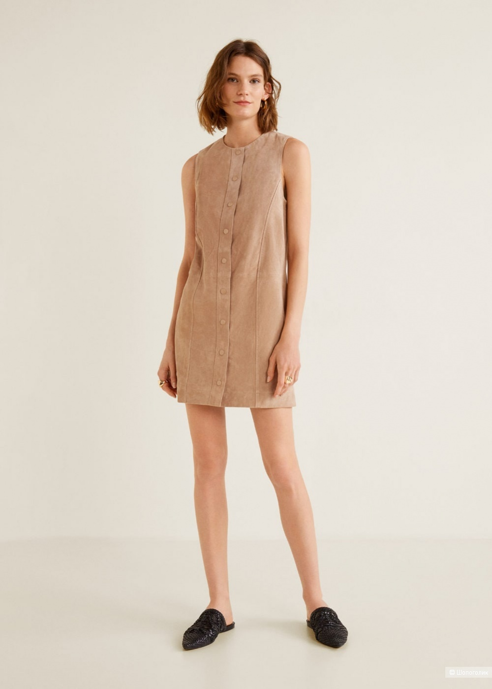 Платье-сарафан, замша, Mango, L