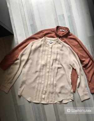 Две блузки-рубашки Uniqlo, 44 размер