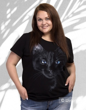 Футболка стрейч BLACK CAT plus size, 42-76