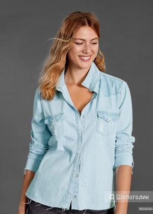 Джинсовая рубашка Violeta by mango, росс 46-48-50