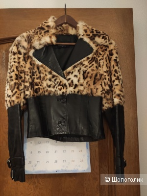 Куртка с мехом кролика, размер S