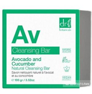 Dr Botanicals веганское мыло с авокадо и огурцом, 100 гр.