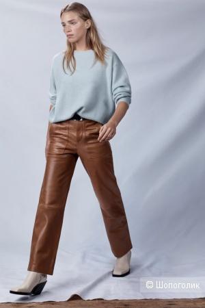 Кожаные брюки Zara, размер xs ( 42 российский)