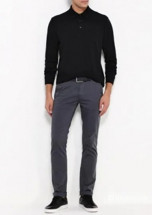 Шерстяной пуловер hugo boss, размер m/l