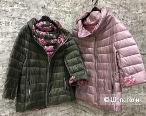 Куртка пуховик двусторонняя FIORI ROSA ITALY, 40-46