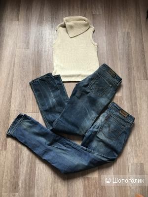 Сетом джинсы Levis 2 пары,водолазка Naf-Naf,44рус