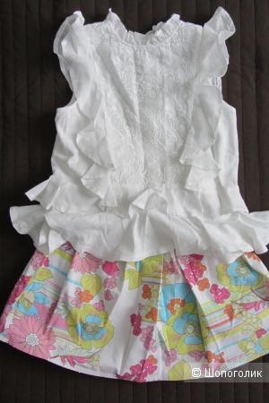 Сет - блузка/топ Next и юбка noname  размер 116-122 см