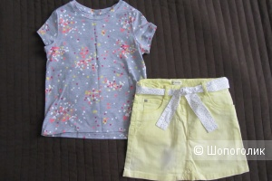 Сет - юбка джинсовая Verbaudet и футболка  Acoola, размер 122-128