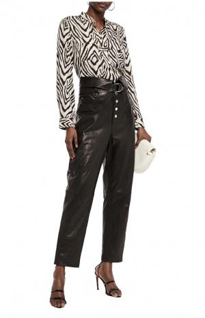 Кожаные брюки IRO, 46 размер
