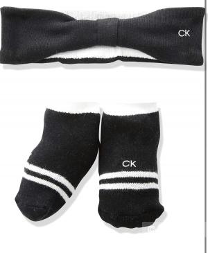 Набор повязка и пинетки для новорожденной Calvin Klein
