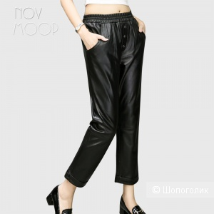 Кожаные брюки Zara размер L