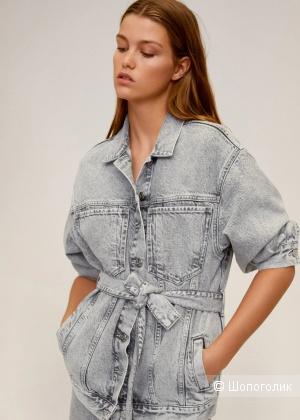 Джинсовая куртка -жакет с поясом COMMITTED mango, размеры M и L