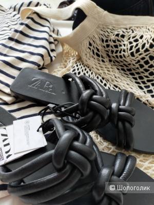 Кожаные сандалии Zara размер 36-37-38