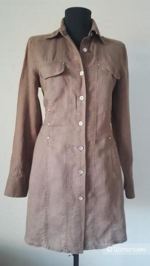 Платье-рубашка, кардиган  La Zigna. размер 44+-