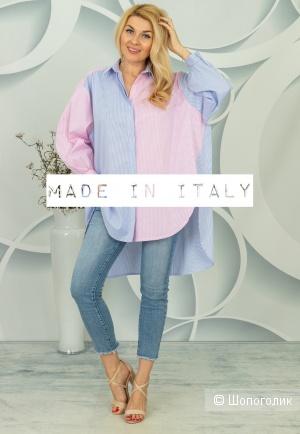 Рубашка туника Colour block koszula, oversize