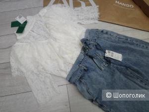 Блуза из кружева CONSCIOUS H&M, размер S/S+