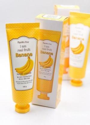 Крем для рук Farmstay I Am Real Fruit Banana Hand Cream с экстрактом банана / 100 мл