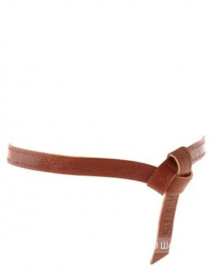 ASOS Leather Tie Detail Embossed Belt, размер S