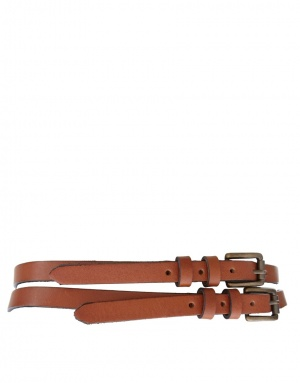 ASOS Leather Two Strap Waist Belt, размер S