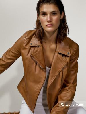 Кожаная куртка косуха Massimo Dutti М 44/46