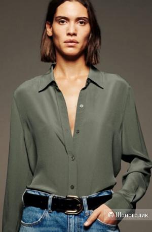Рубашка 100% шелк ZARA, на росс 42-44